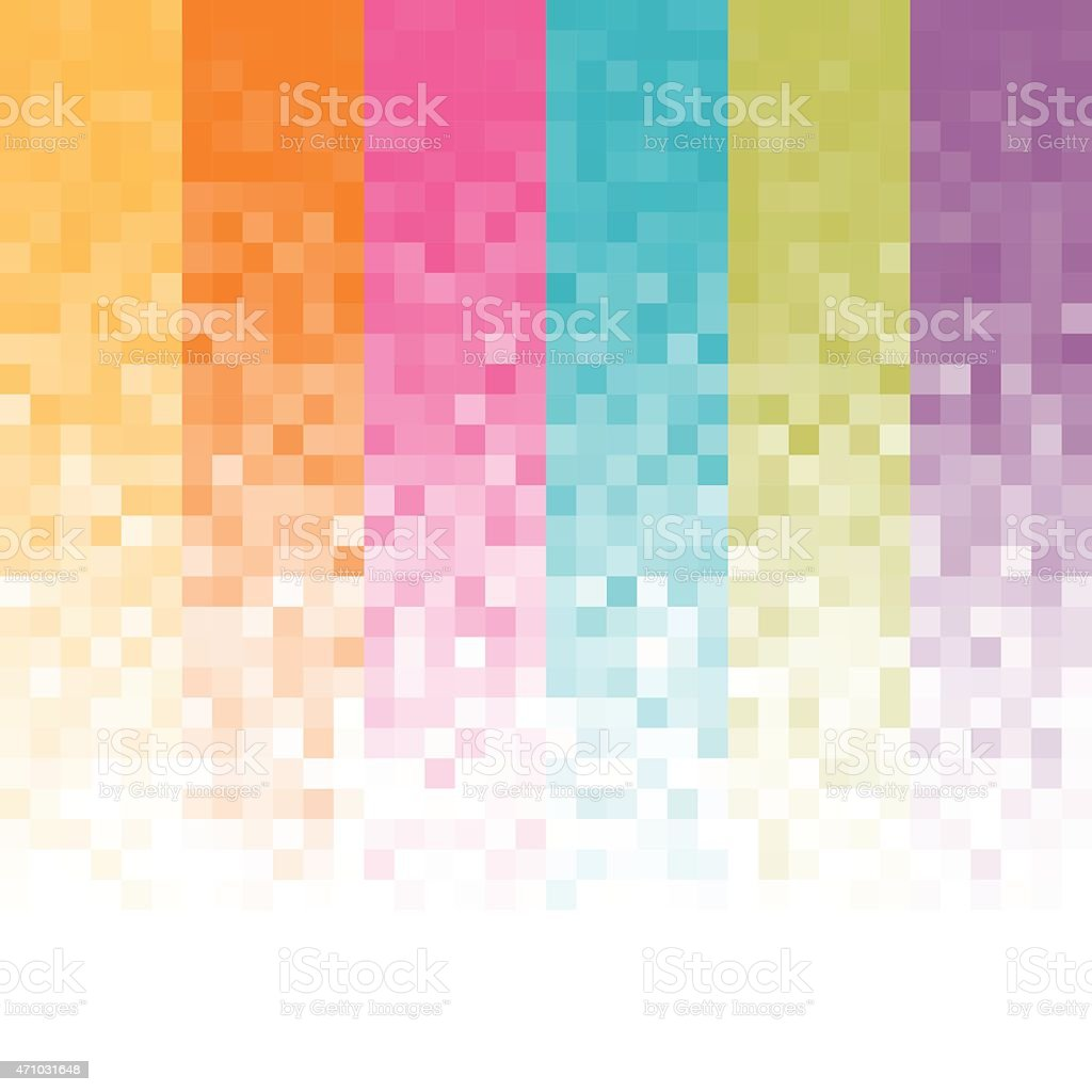 Abstract pixel background vector art illustration