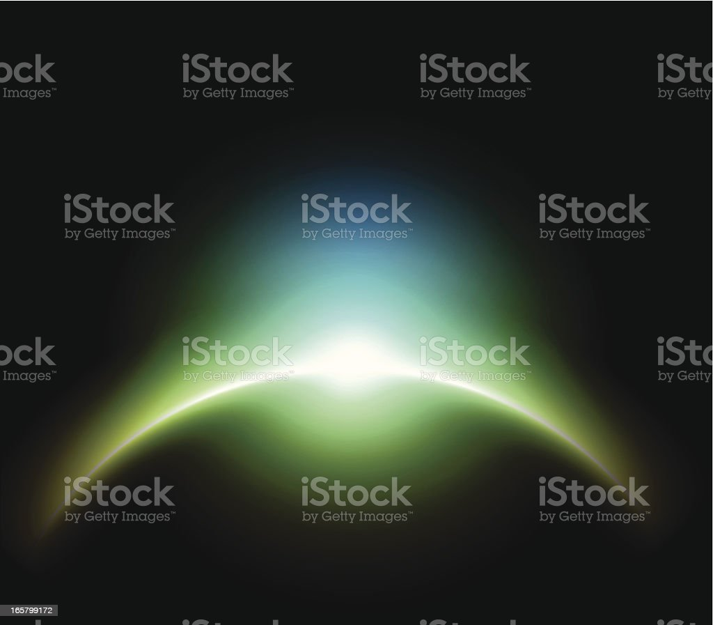 Abstract planet shape royalty-free stock vector art