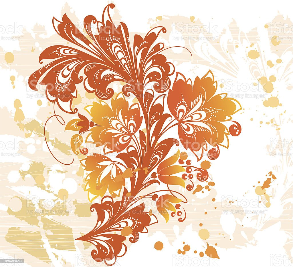 abstract plant royalty-free stock vector art