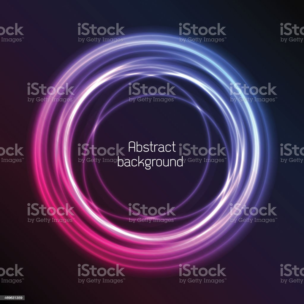 Abstract plasma background of light circles (title included) vector art illustration