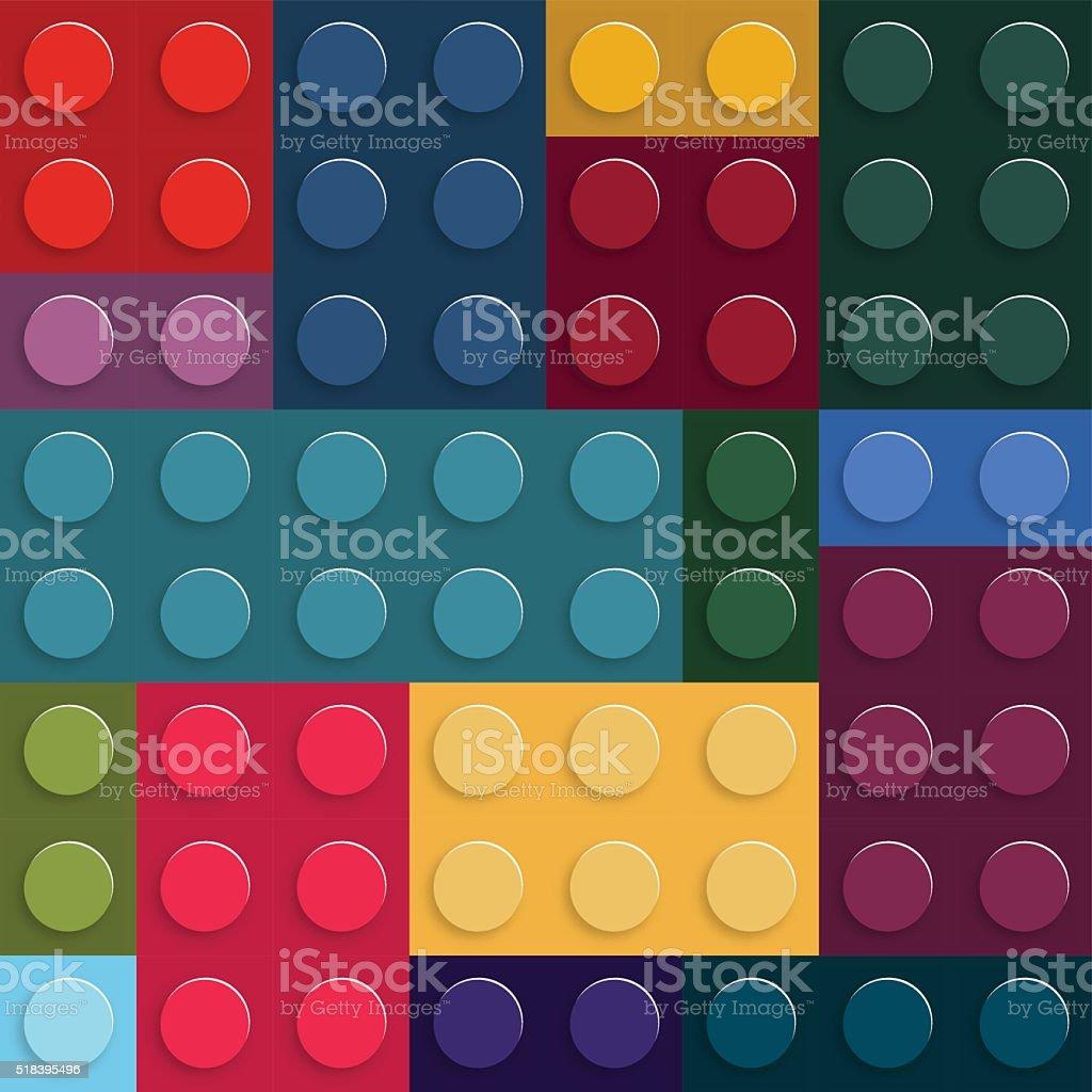 abstract plastic blocks pattern background vector art illustration