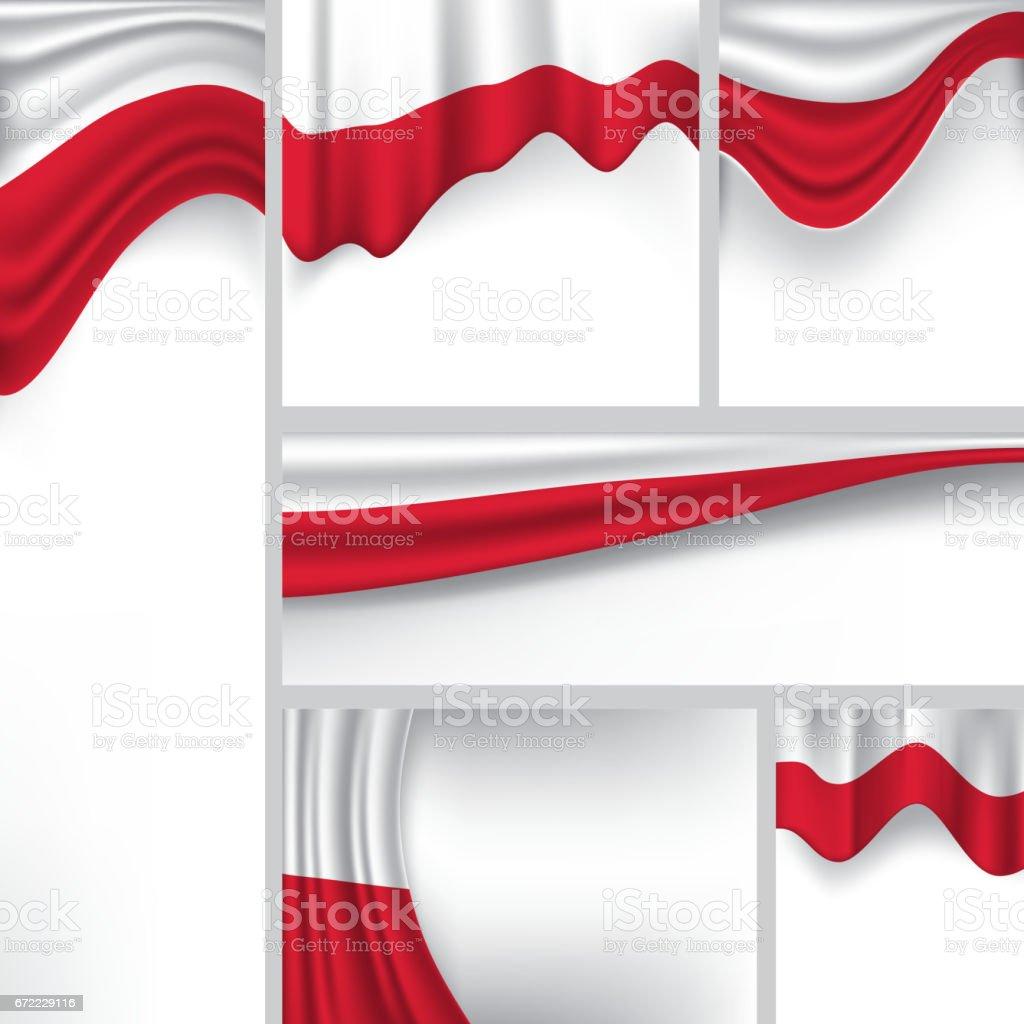 Abstract Poland Flag, Polish Colors (Vector Art) vector art illustration