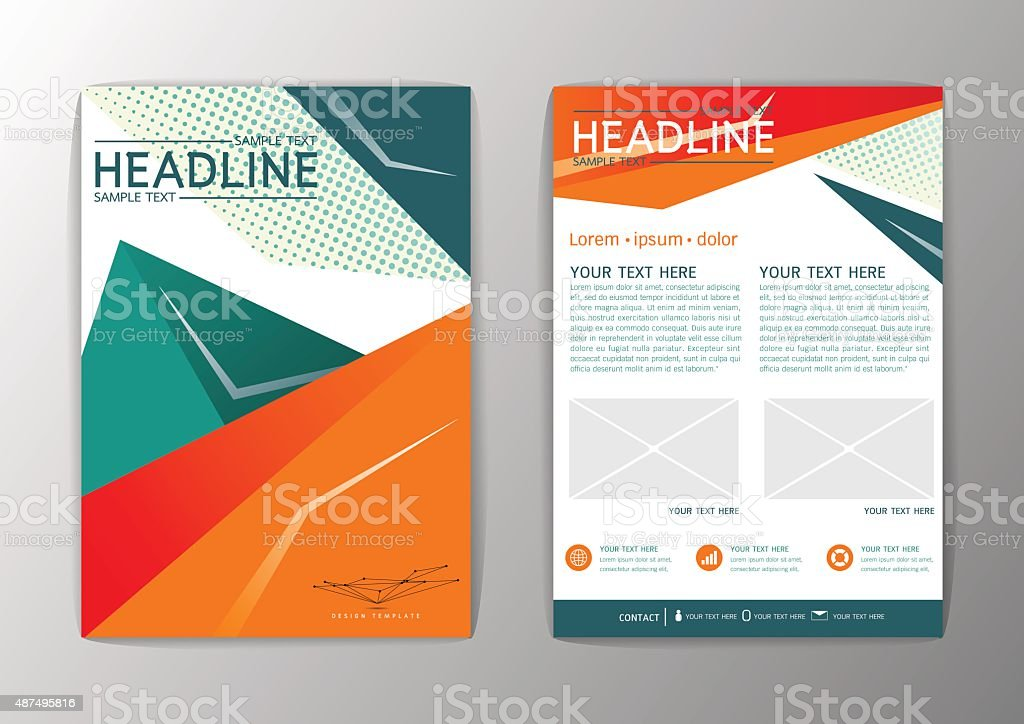 Abstract Polygon Background Design Business Brochure Template