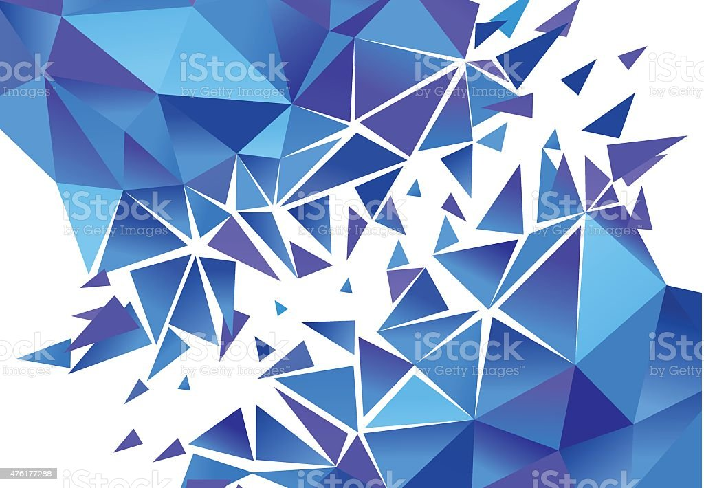 Abstract Polygon Background.  Vector vector art illustration