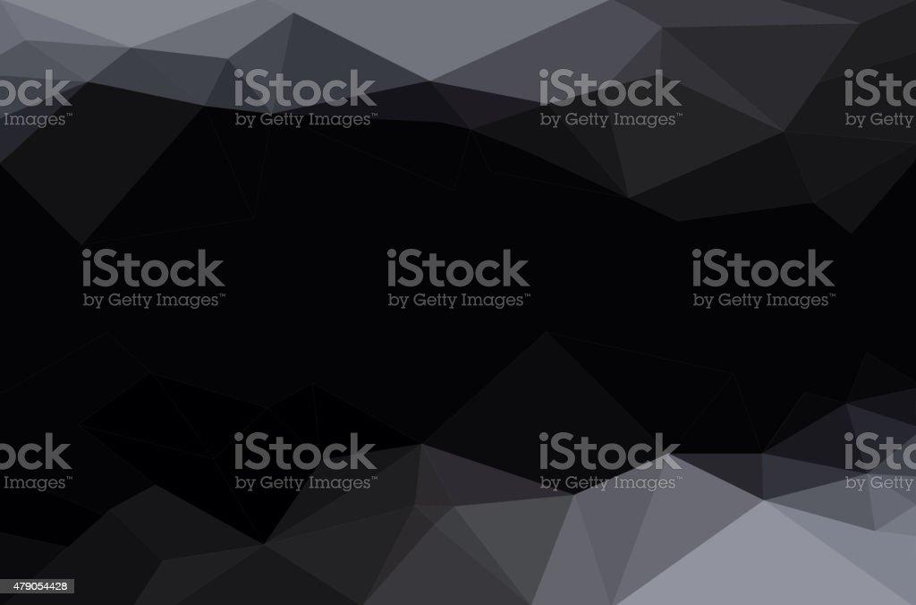 Abstract polygon geometric background. vector art illustration