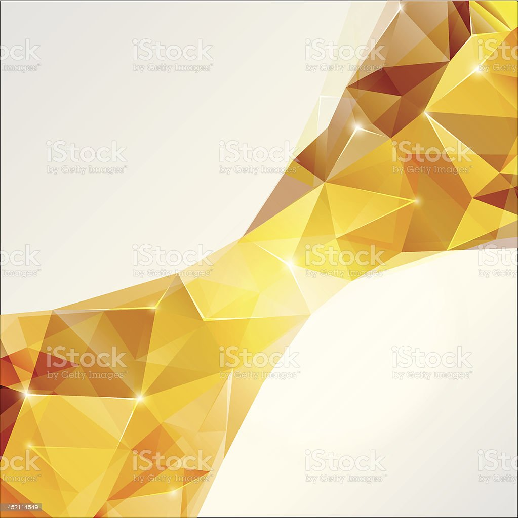 Abstract polygonal background in yellow colors royalty-free stock vector art