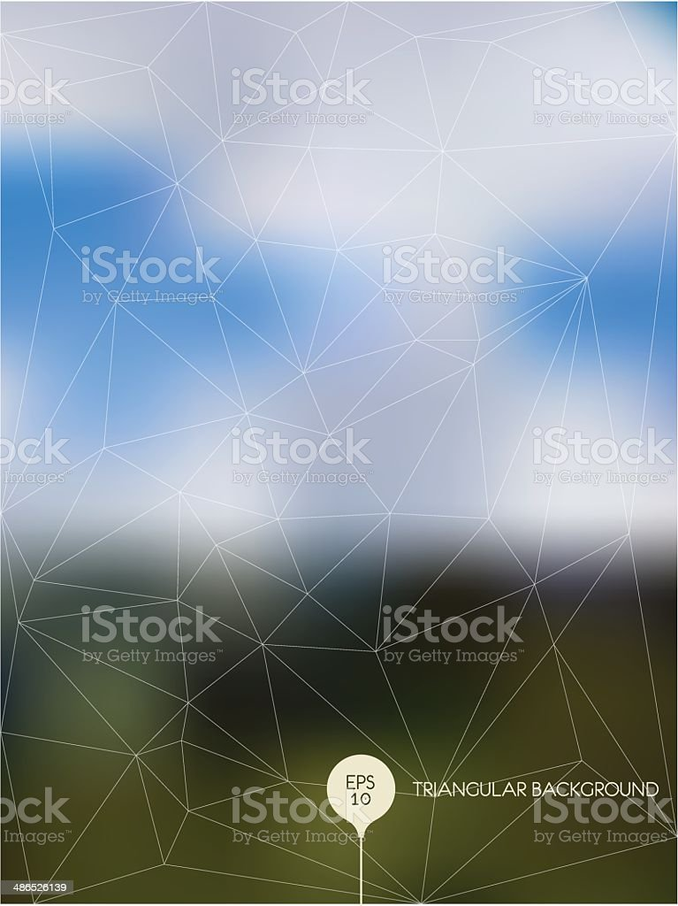 Abstract polygonal blurred background vector art illustration