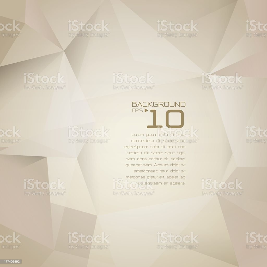 Abstract polygonal design beige and brown background  vector art illustration