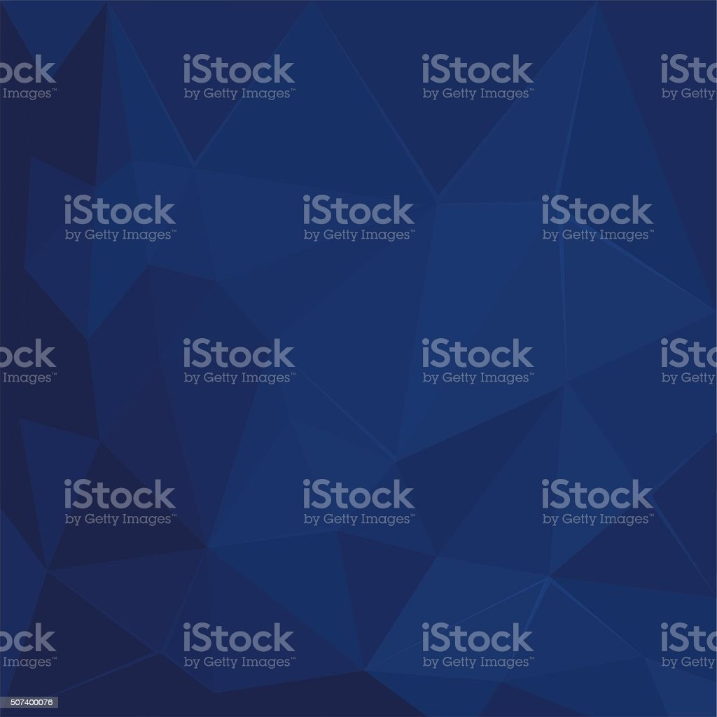 Abstract polygonal geometric facet Dark Blue background wallpaper illustration vector art illustration