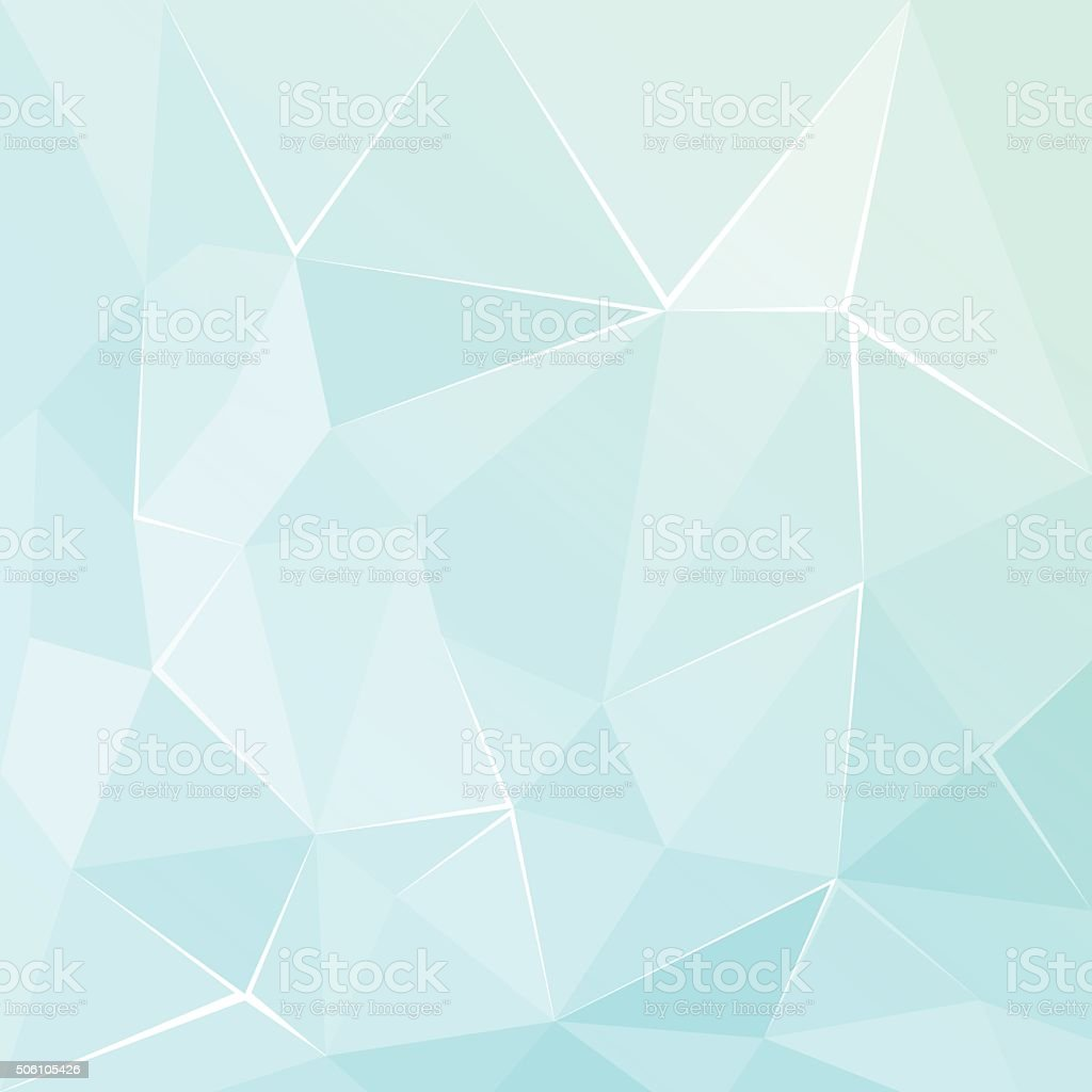 Abstract polygonal geometric facet Turquoise background vector art illustration