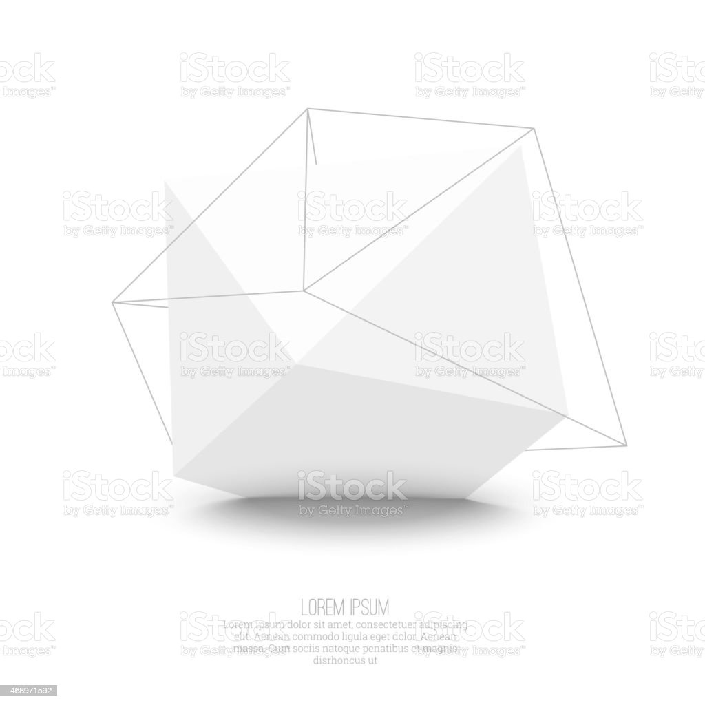 Abstract polygonal geometric shape vector art illustration