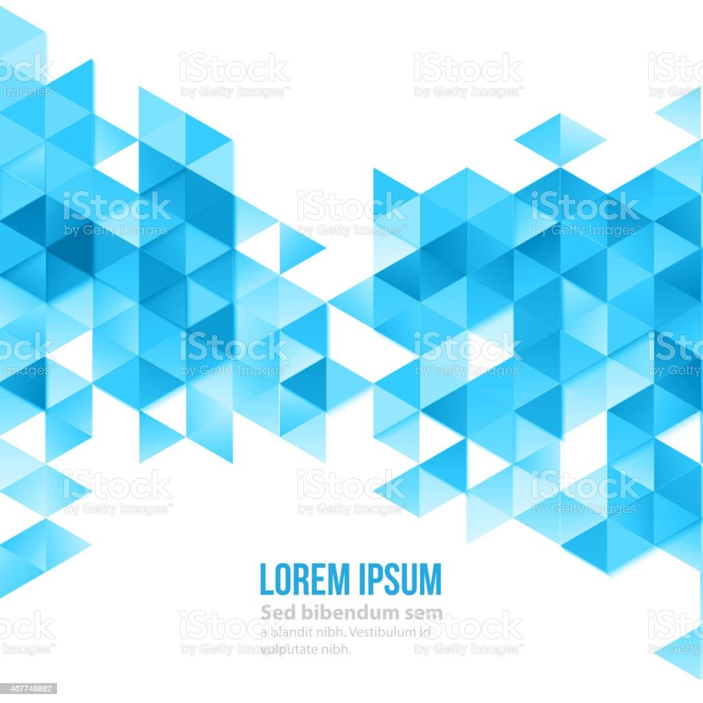 Abstract polygonal triangles poster vector art illustration