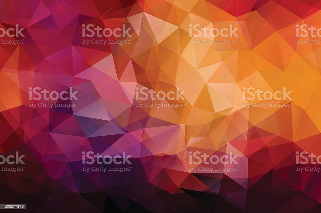 Abstract polygonal vector background vector art illustration