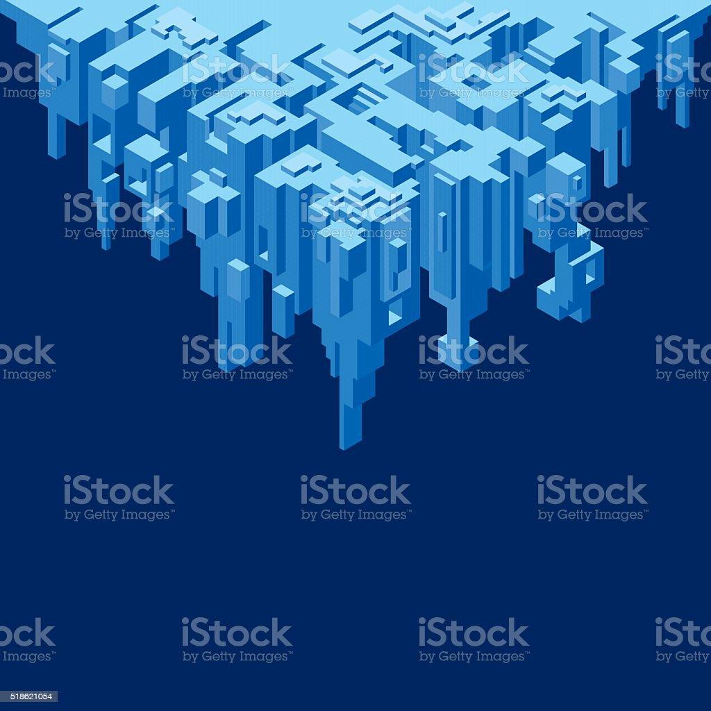 Abstract Precipice Vector vector art illustration