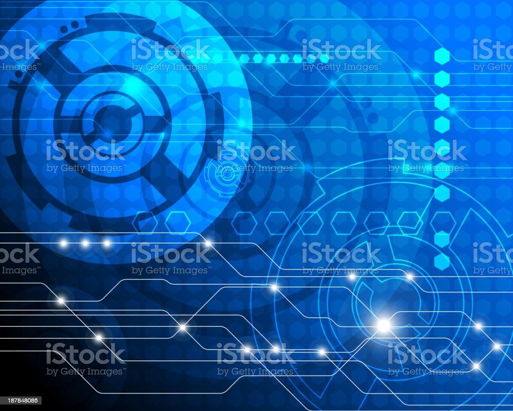 Abstract precision mechanics concept royalty-free stock vector art