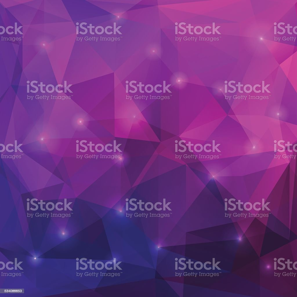 Abstract purple triangles background vector art illustration
