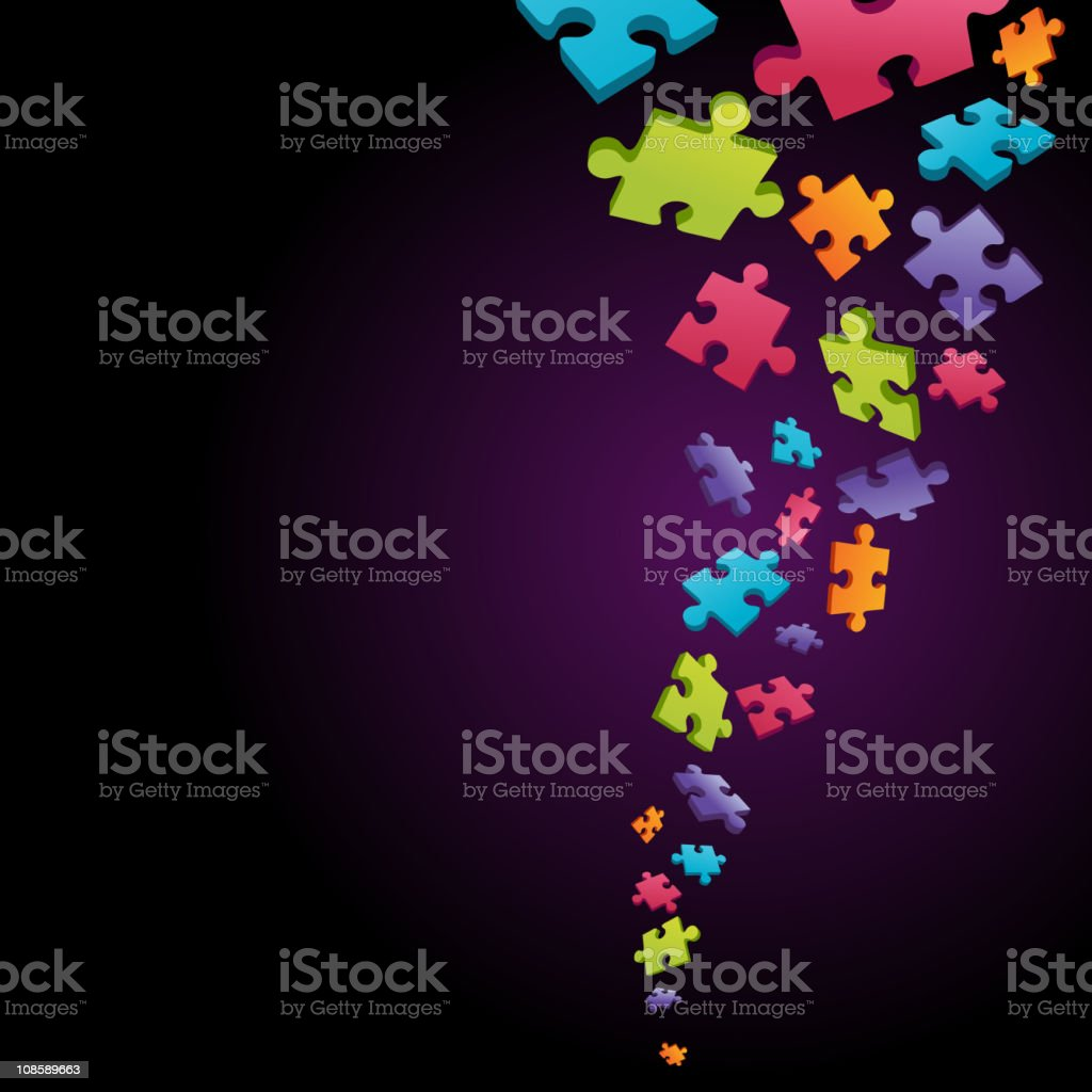 Abstract puzzle piece vector background royalty-free stock vector art