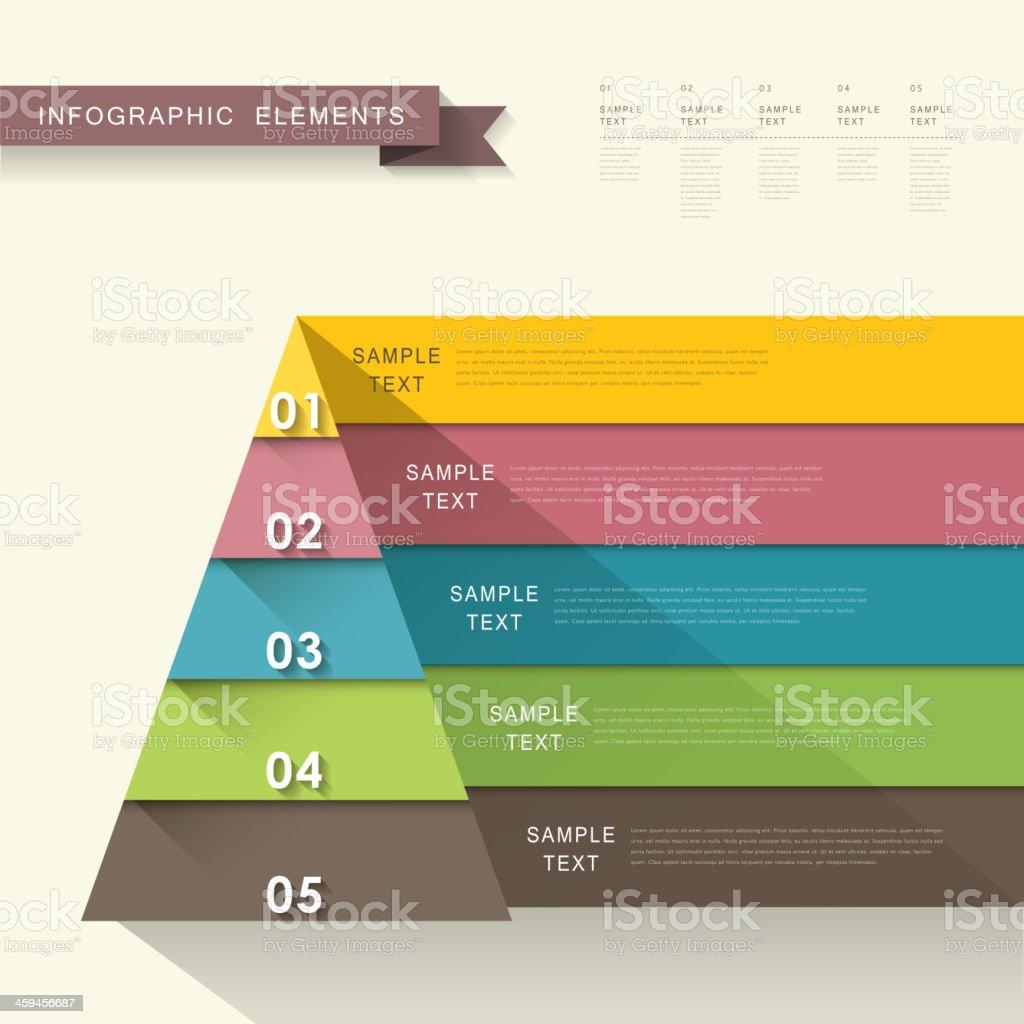 abstract pyramid infographics vector art illustration
