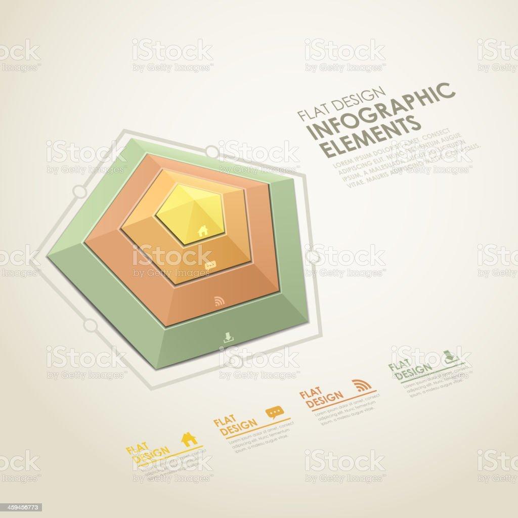 abstract radar chart infographics royalty-free stock vector art