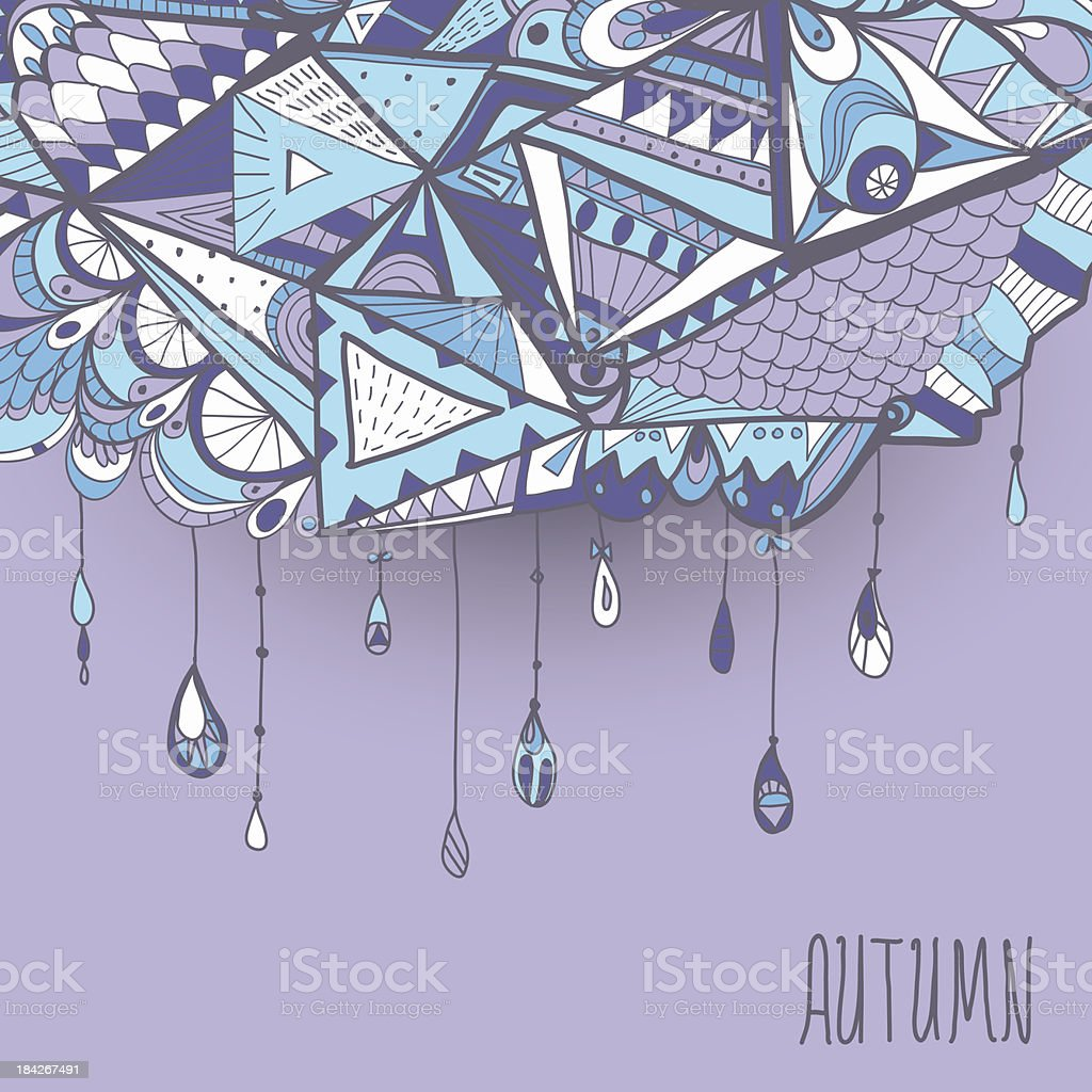 Abstract rain cloud. royalty-free stock vector art