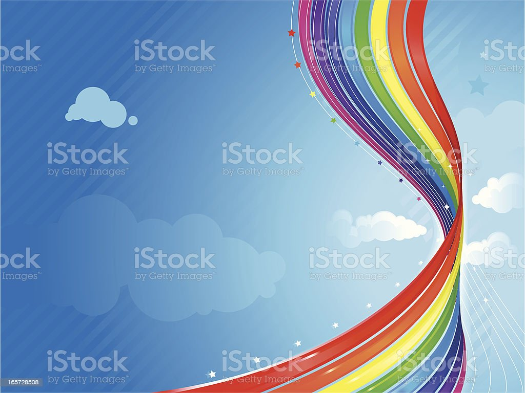 Abstract Rainbow Background royalty-free stock vector art