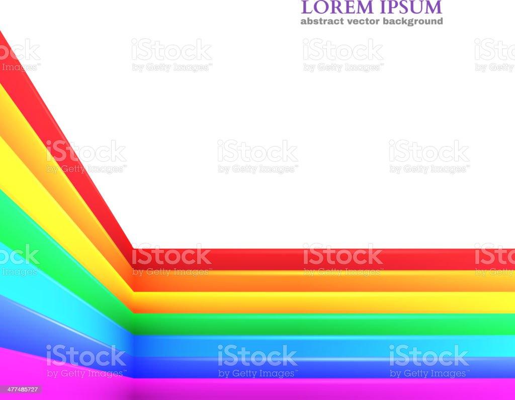 Abstract Rainbow Background. Vector Illustration royalty-free stock vector art