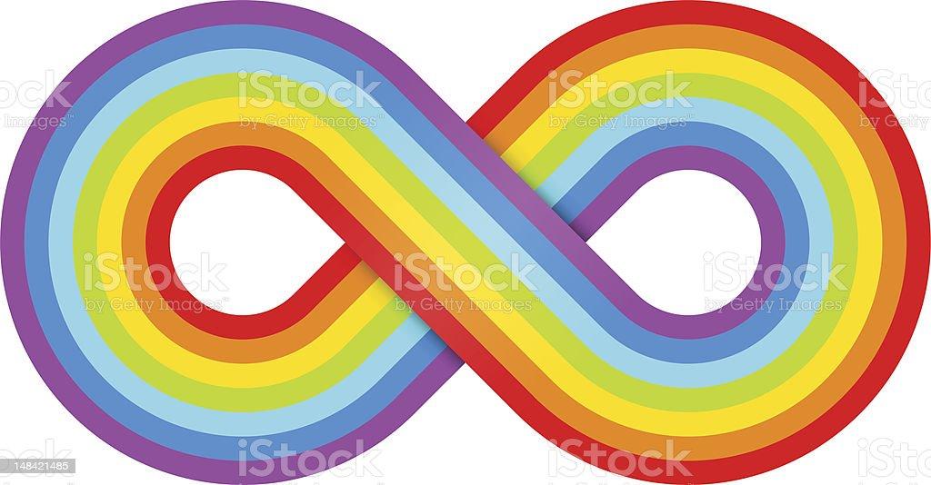 Abstract rainbow infinity royalty-free stock vector art