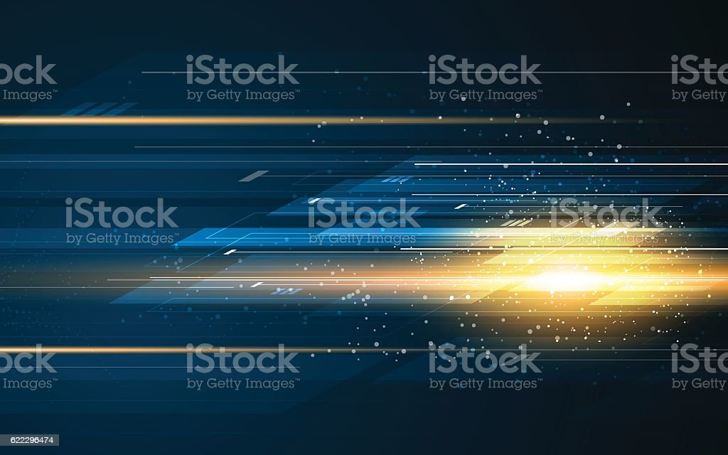 abstract rectangle pattern tech speed movement pattern design background concept vector art illustration