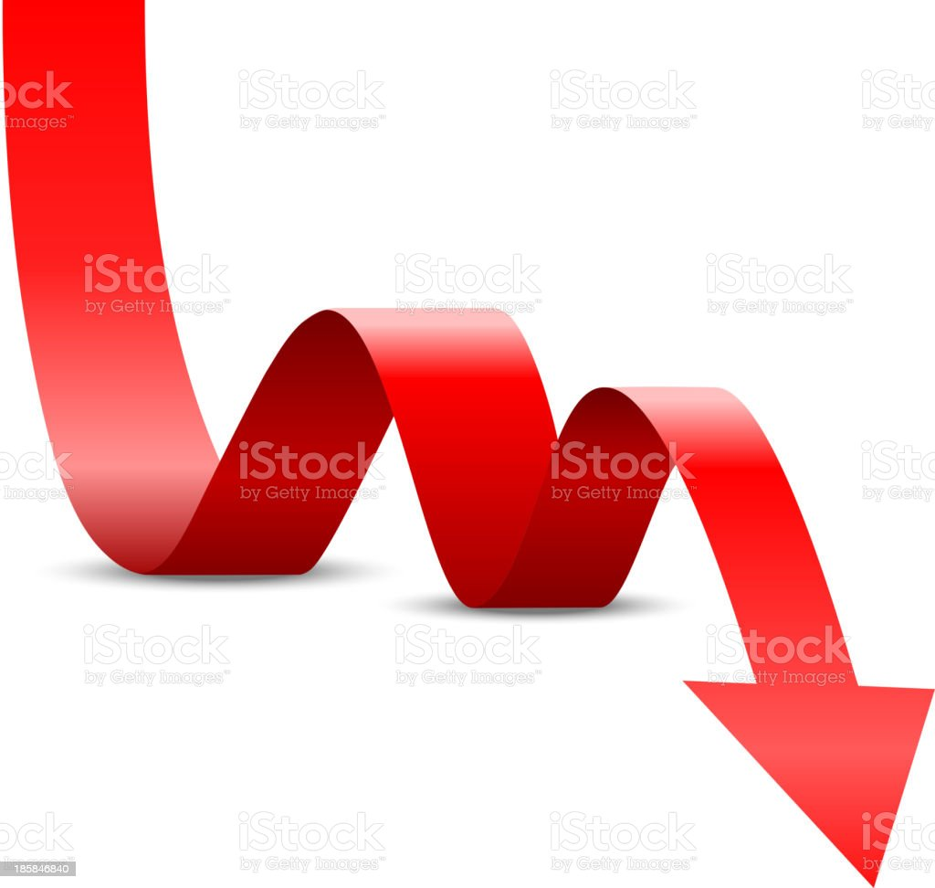 Abstract Red Arrow Up vector art illustration