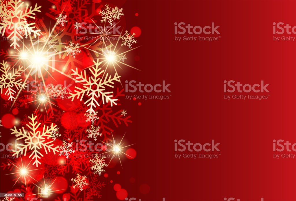 Abstract red christmas greeting card. vector art illustration