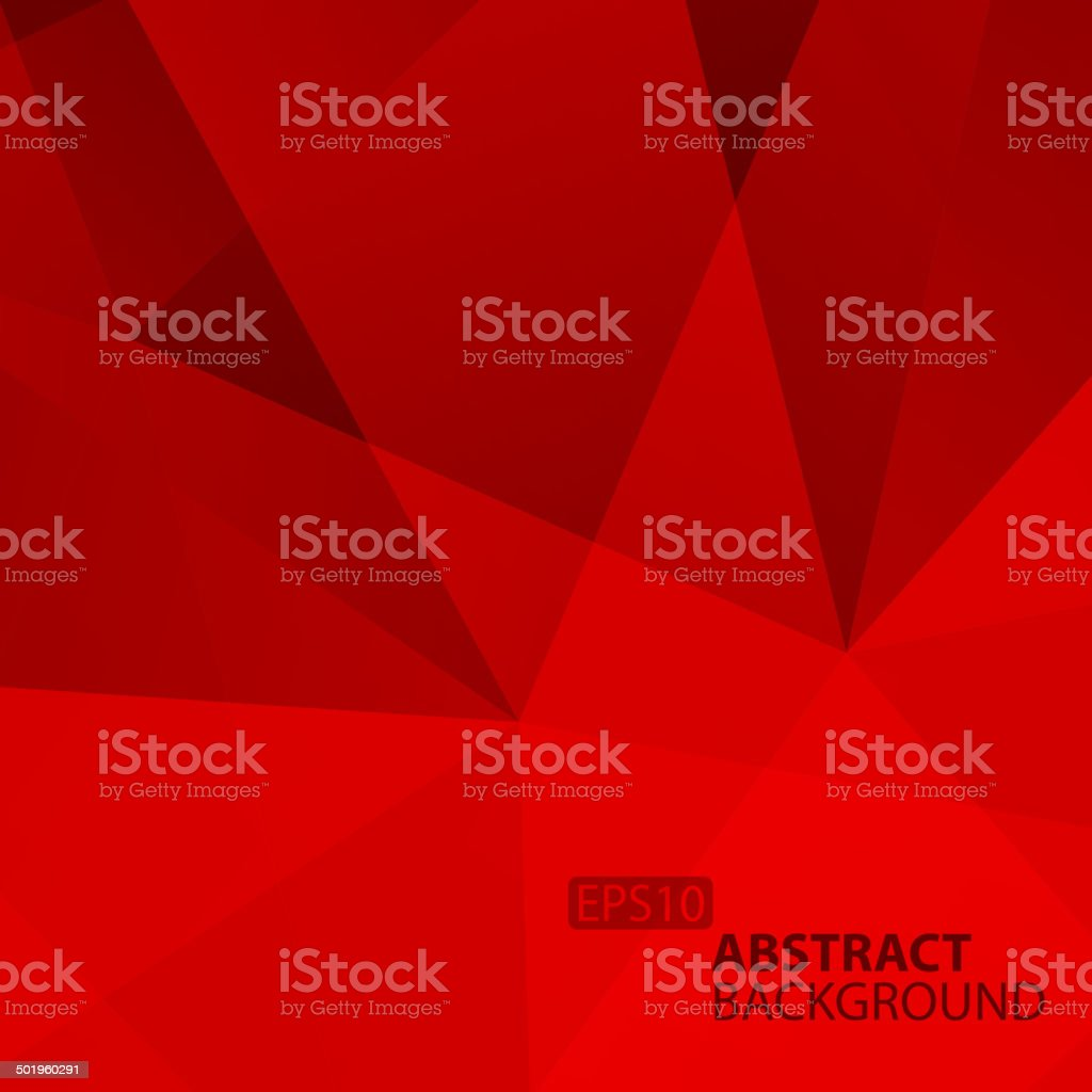 Abstract Red Geometric Background. vector art illustration