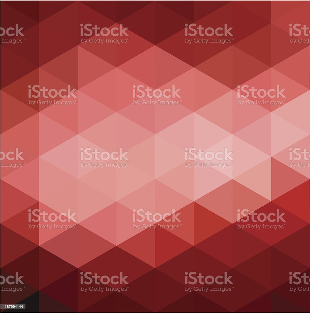 Abstract Red Geometrical Background royalty-free stock vector art