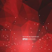 Abstract red light background vector polygonal triangle modern c