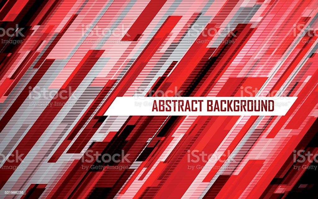 Abstract red lines vector art illustration