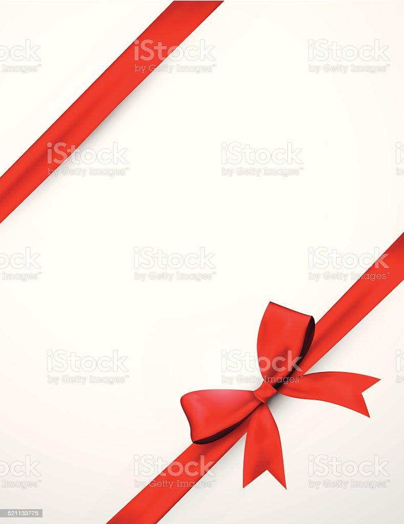Abstract red ribbon vector art illustration