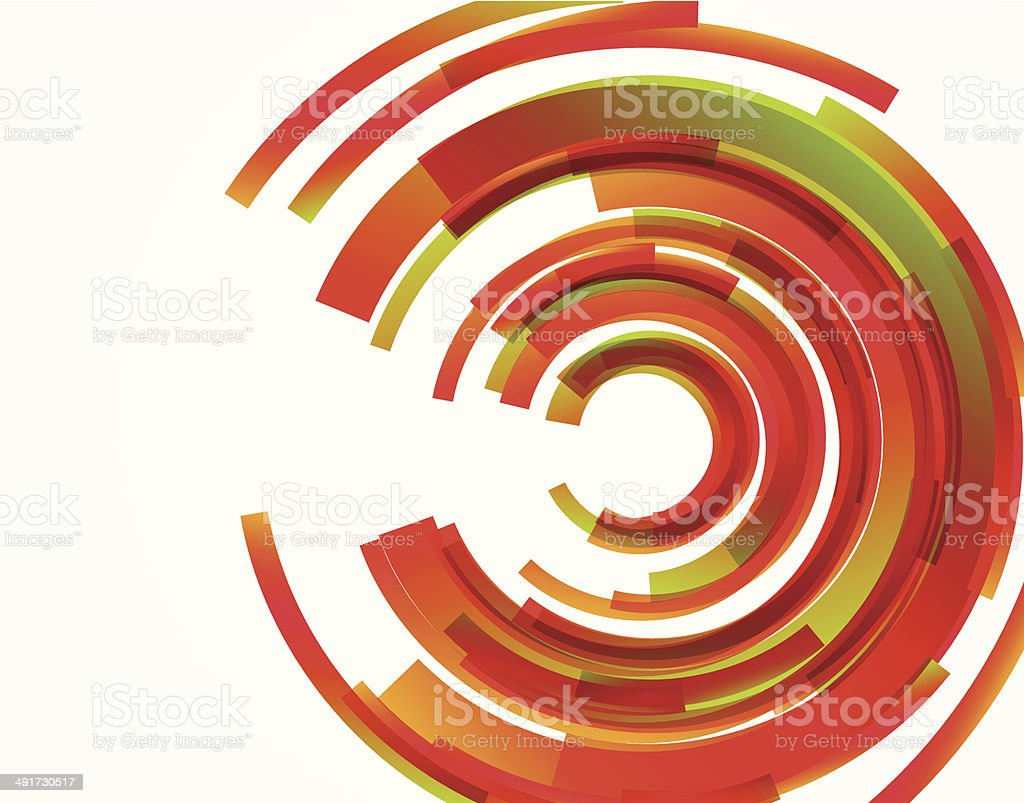 abstract red ring pattern background vector art illustration