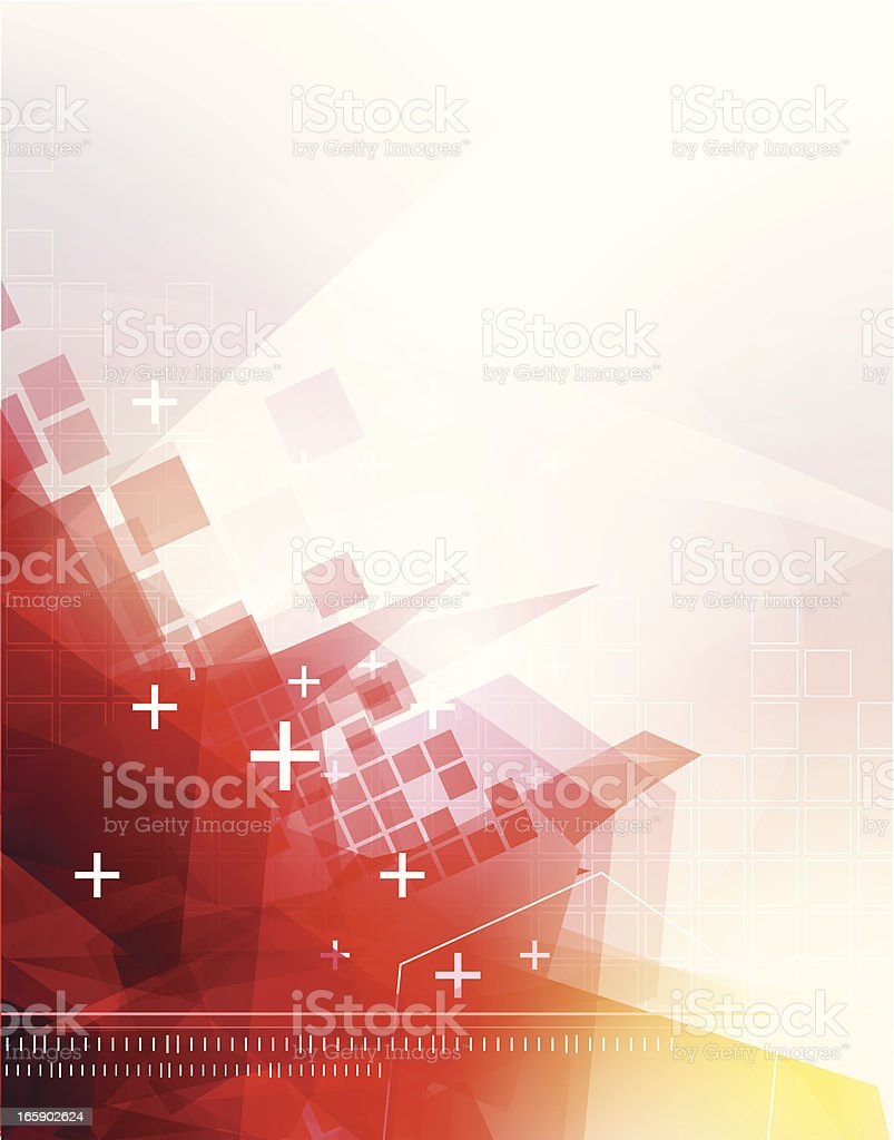 Abstract red technical background royalty-free stock vector art