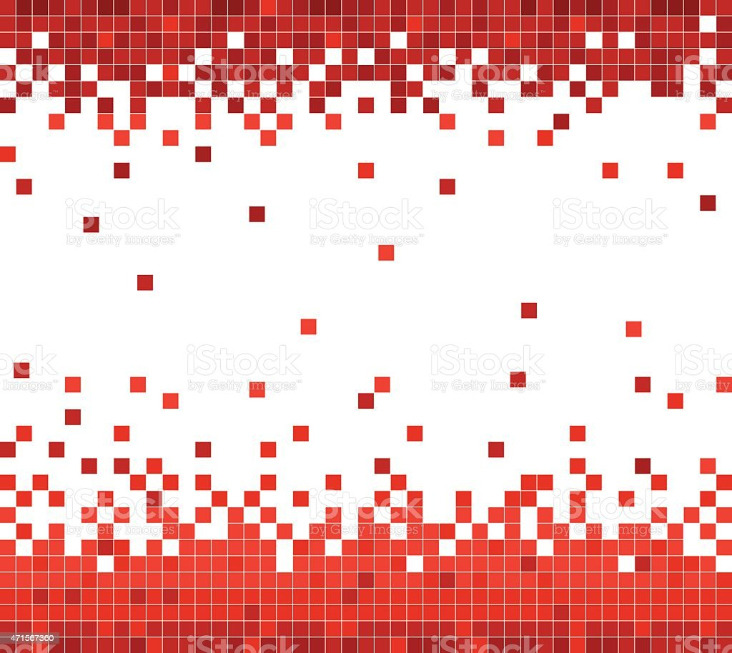 Abstract Red Technology Check Pattern Background stock