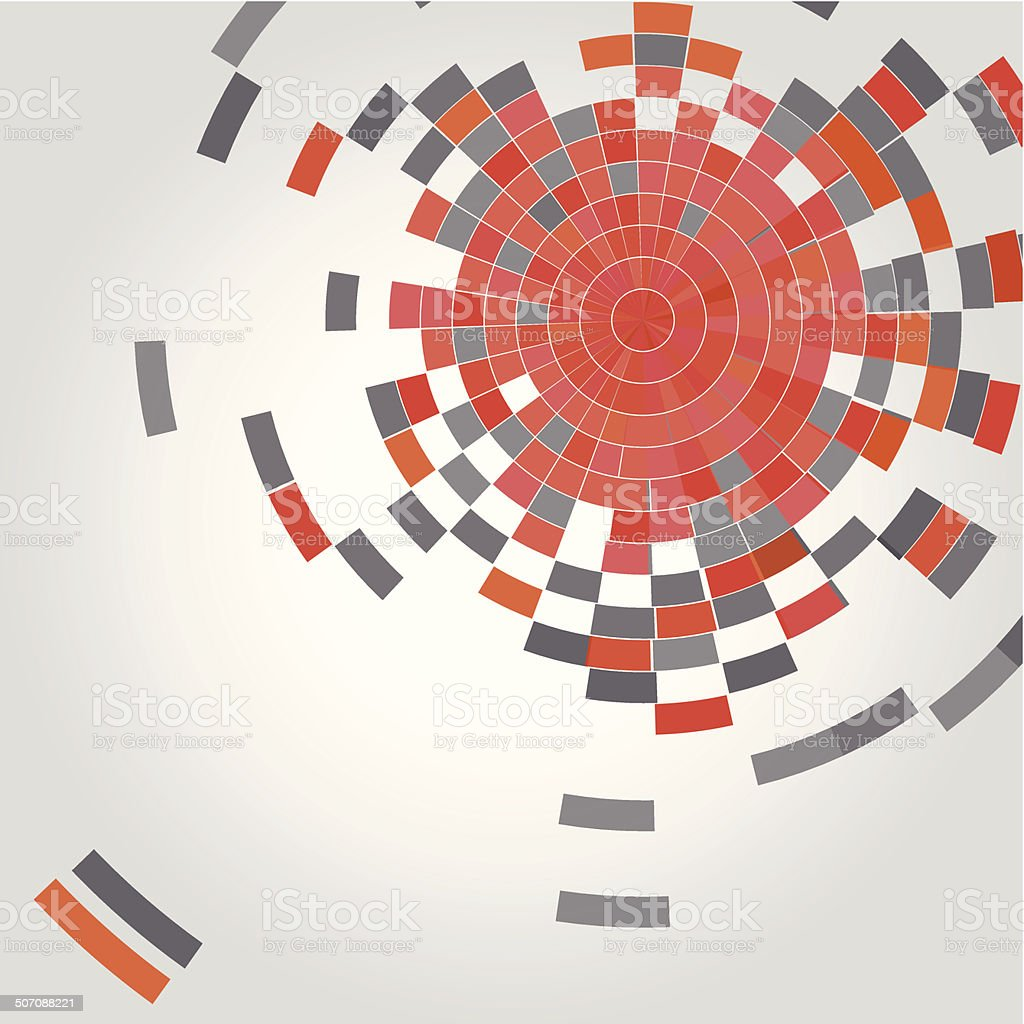 abstract red technology concept background vector art illustration
