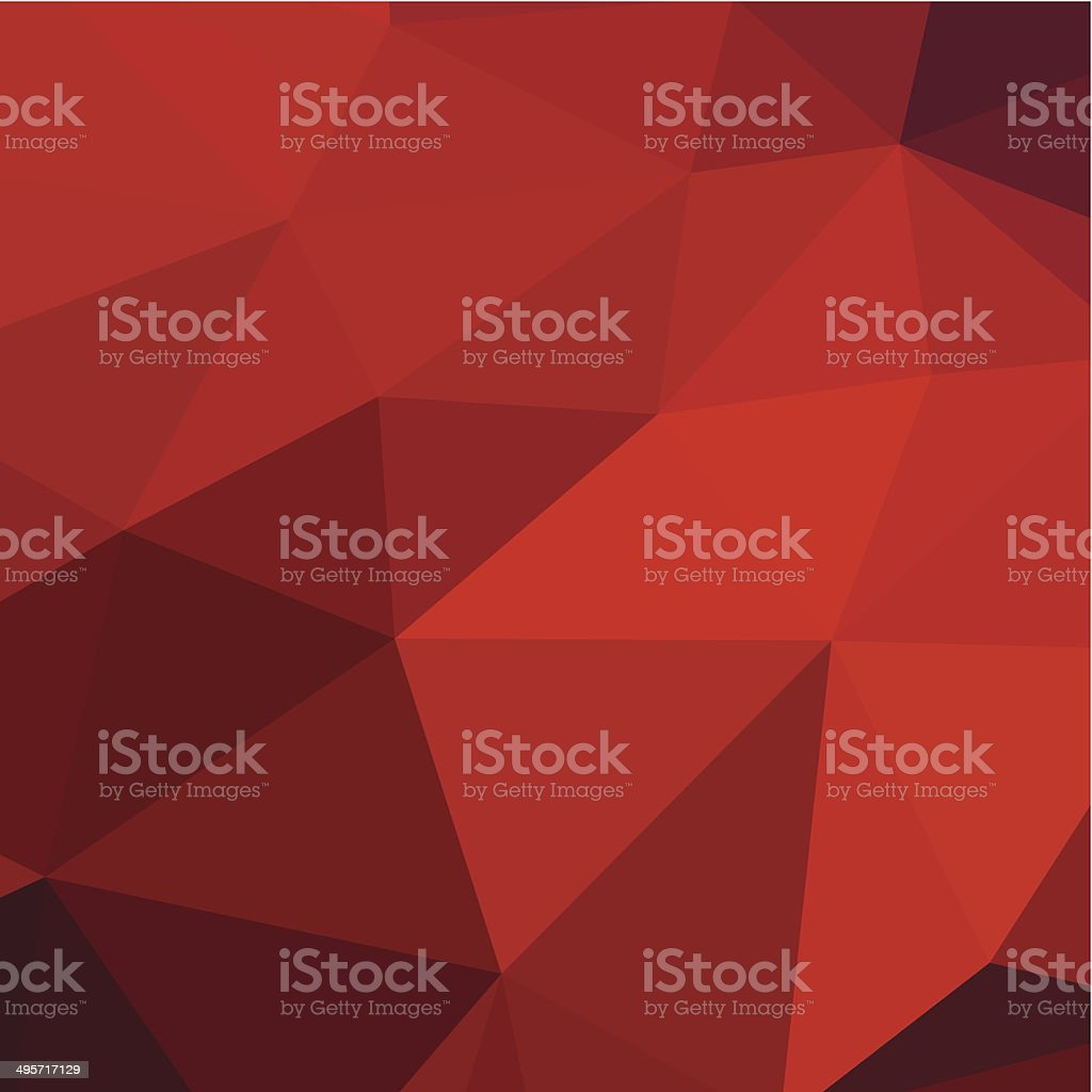 abstract red triangle pattern background vector art illustration