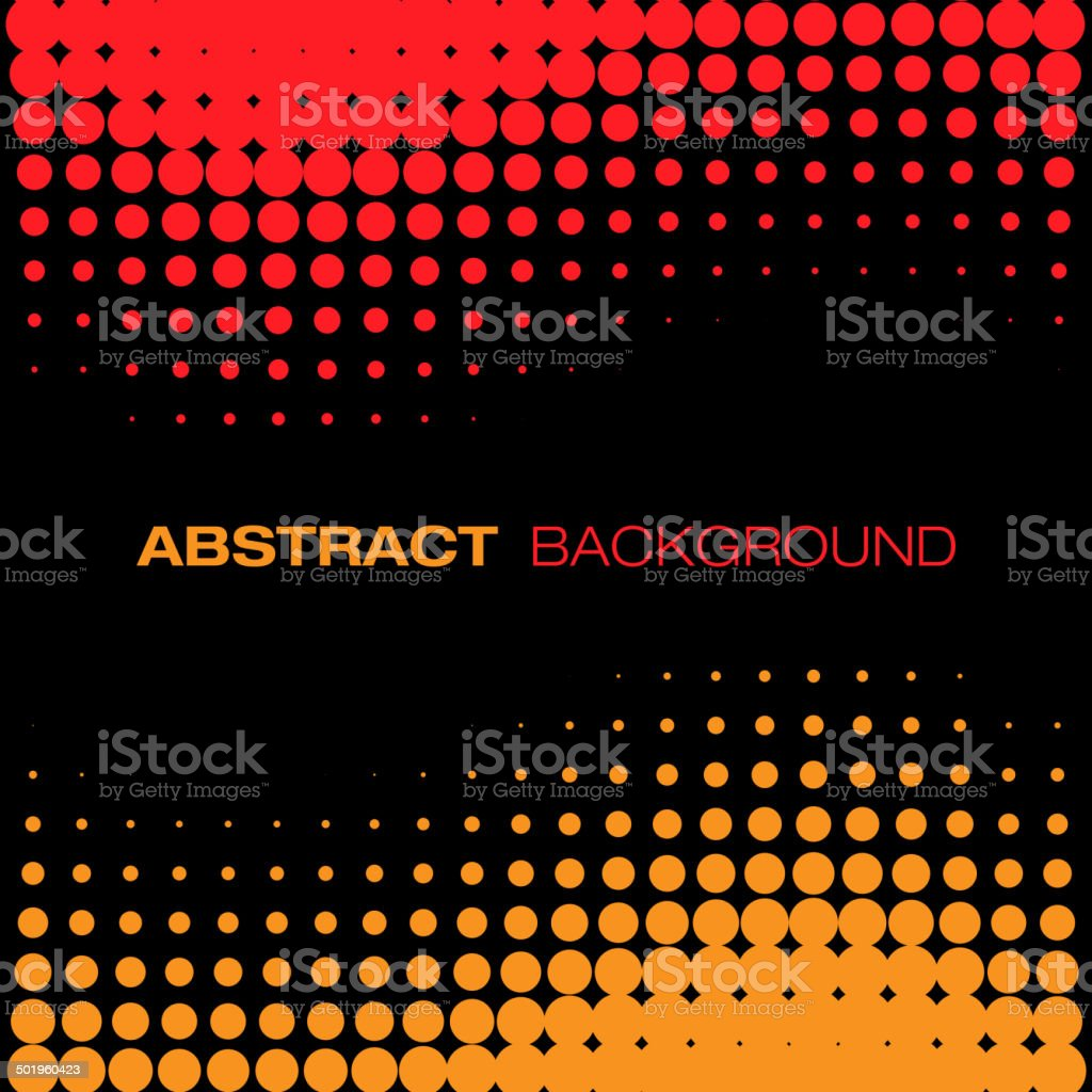 Abstract Red Yellow Halftone Background vector art illustration
