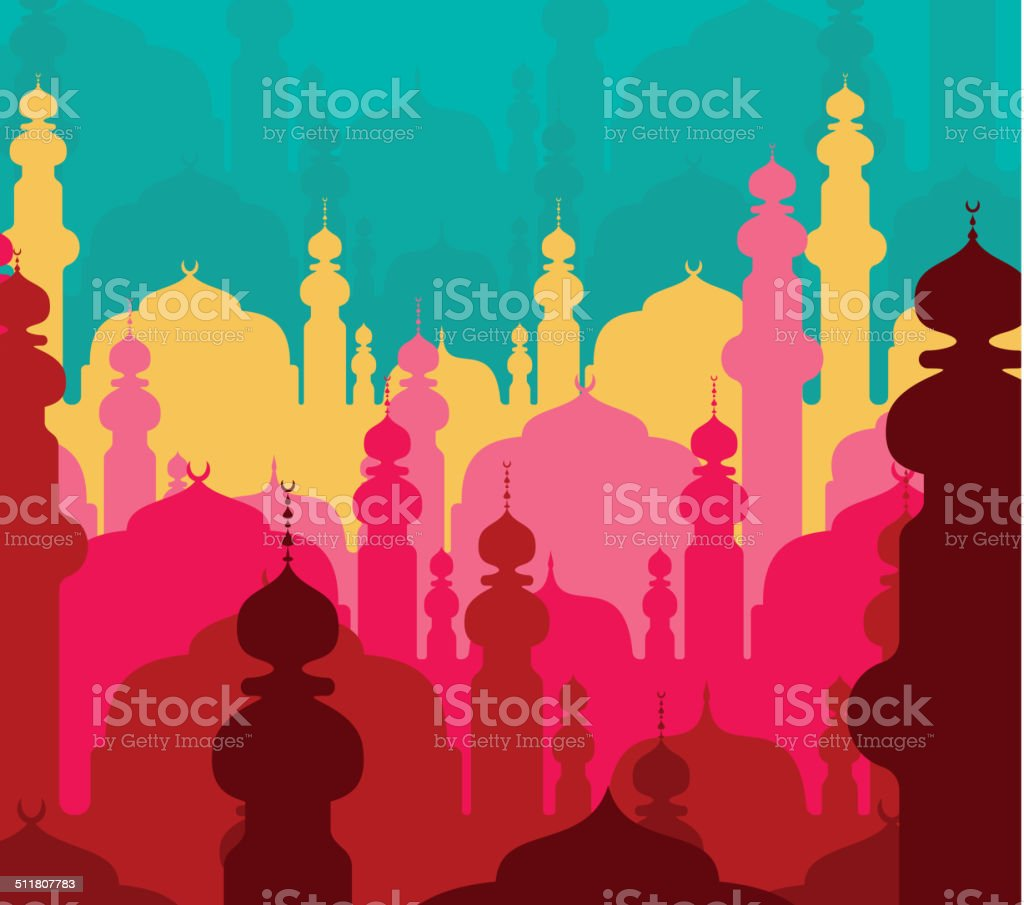 Abstract religious background vector art illustration