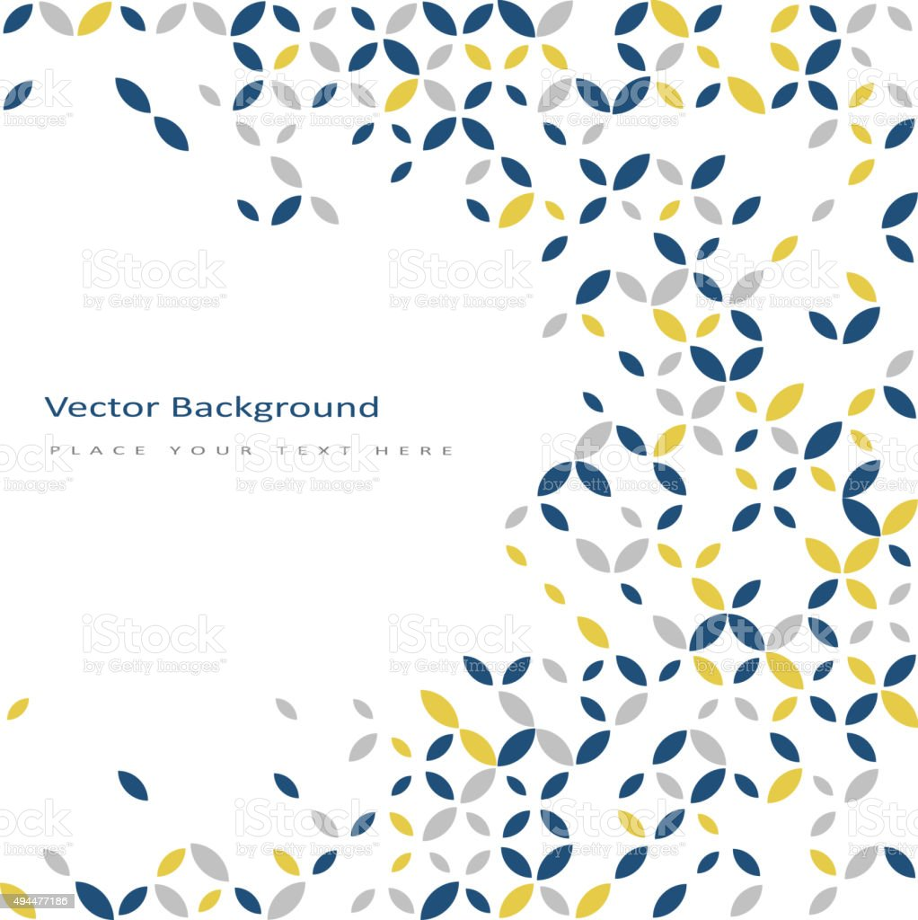 Abstract retro color background vector art illustration