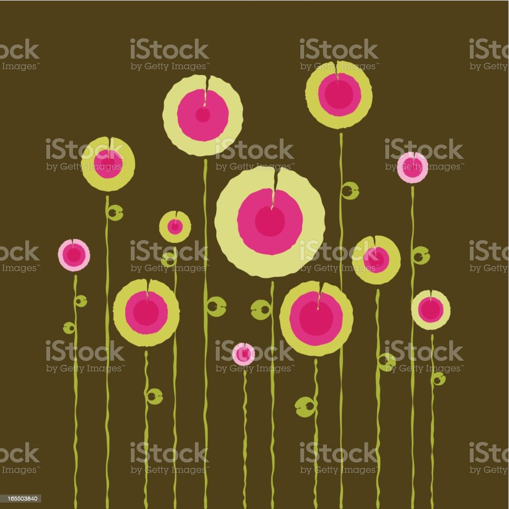 Abstract retro garden royalty-free stock vector art