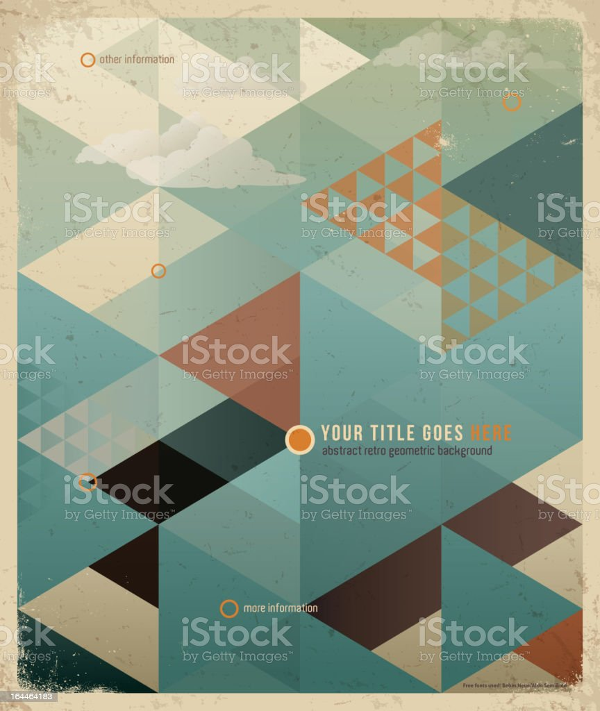 Abstract Retro Geometric Background. vector art illustration
