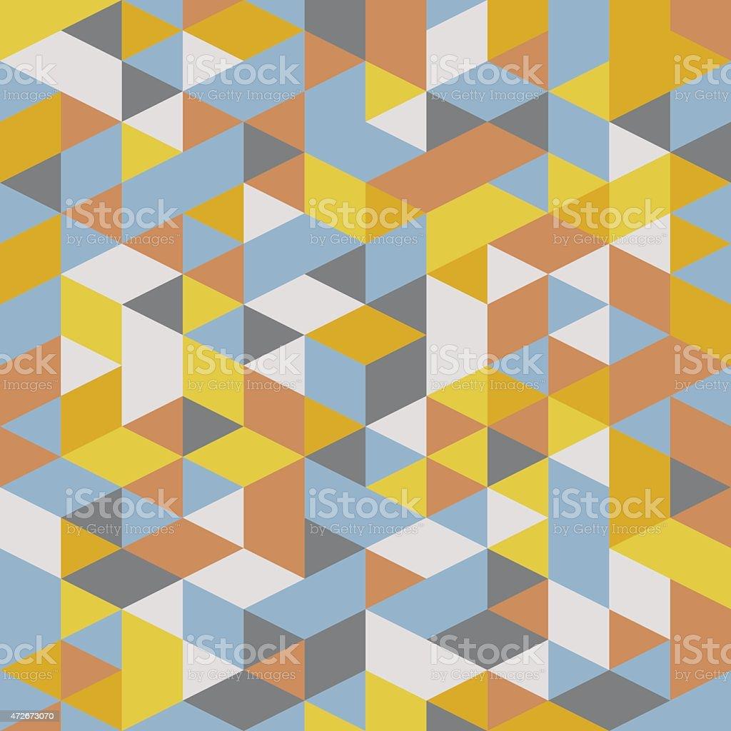 Abstract retro geometric patterns vector art illustration