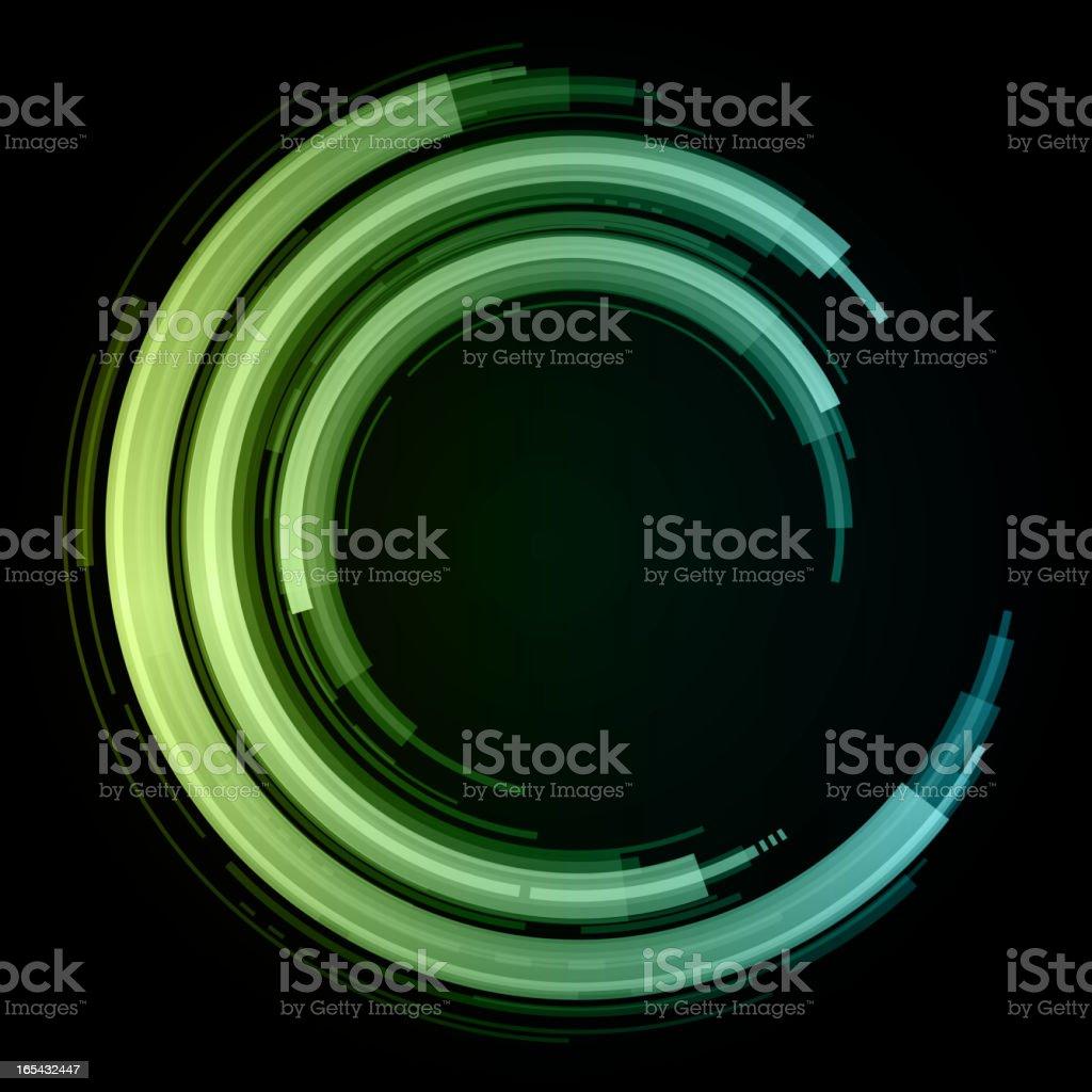 Abstract retro technology circles vector background vector art illustration