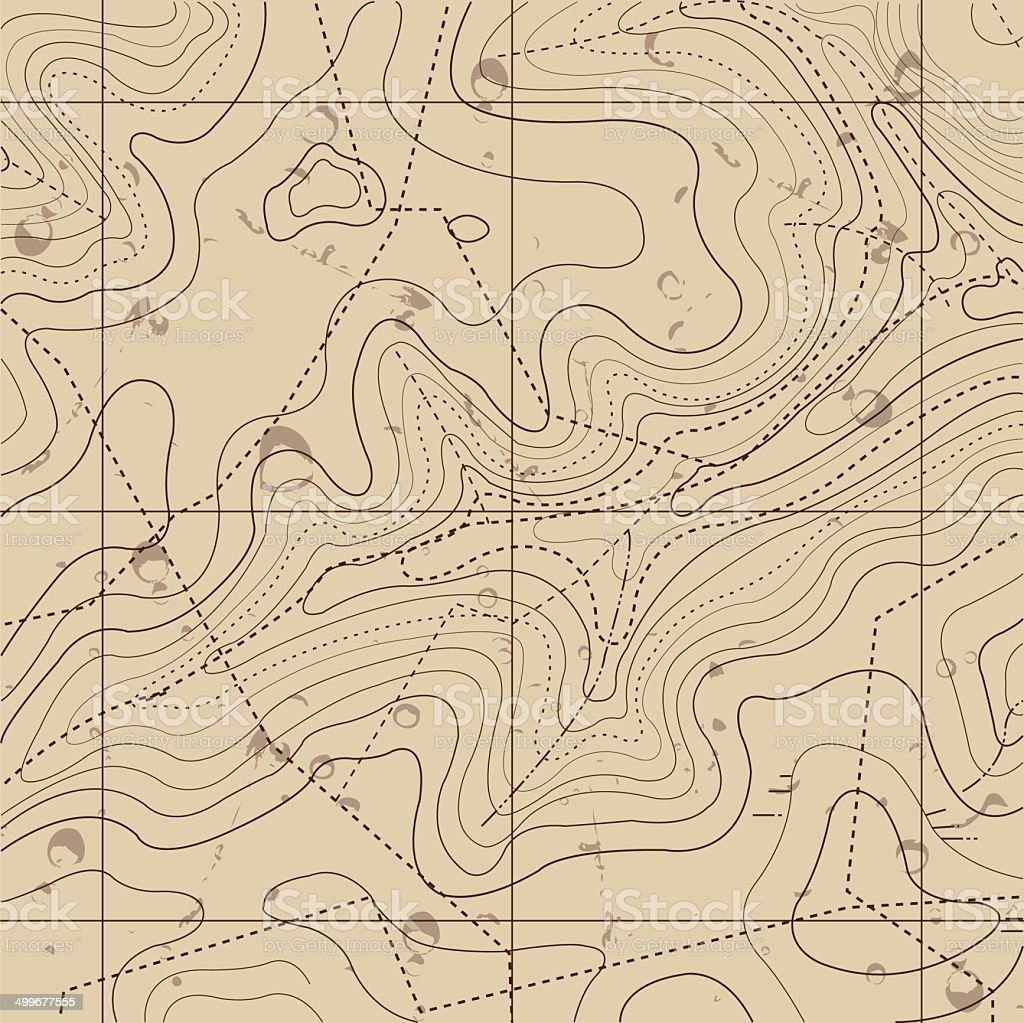 Abstract Retro Topography map Background vector art illustration