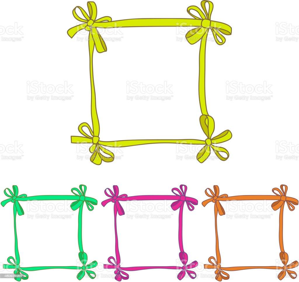 Abstract Ribbon Frame royalty-free stock vector art