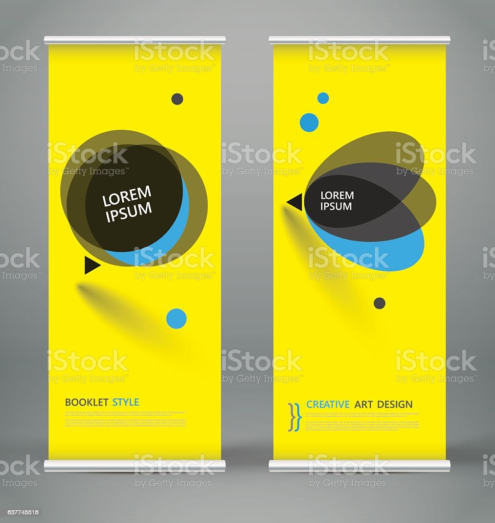 Abstract roll up. Brochure cover design. Creative text frame font. vector art illustration